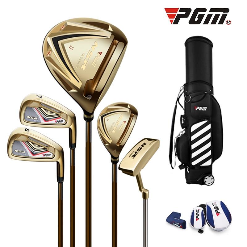 PGM Golf Club Men's Half-Sleeve Golf Ultra-Light Carbon Club 5 Pole+Golf Bag MTG017