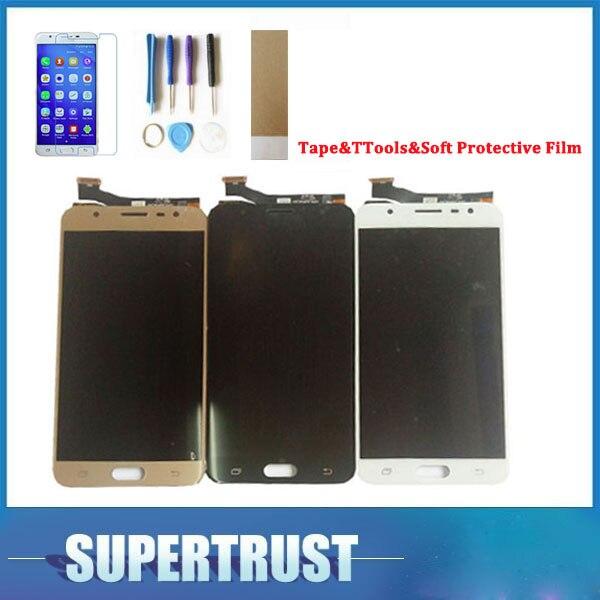 Original Para Samsung Galaxy J7 Prime G610 G610F G610K G610L G610S G610Y 3 Cor Display LCD + Digitador Da Tela de Toque com Kit
