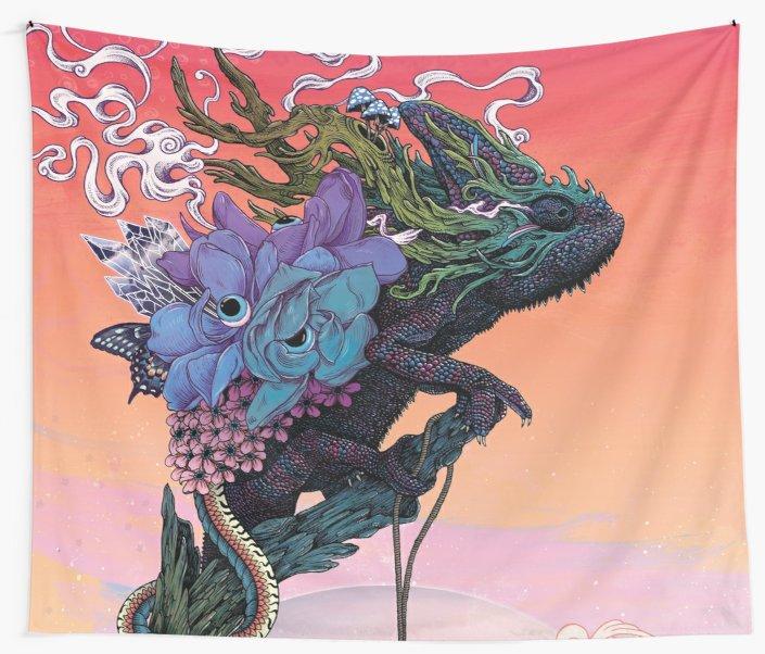 Tapiz de pared Phantasmagoria, toalla de playa, manta, manta de Picnic, esterilla de Yoga, decoración del hogar