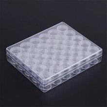 LUDA 30 Grids Plastic Makeup Organizer Storage Box Jewelry Small Beads Rhinestones Diamond Painting Accessories Storage Case G
