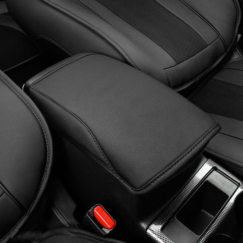 Funda de cuero de microfibra para Reposabrazos de coche, Funda negra para Reposabrazos de consola central, Fundas de cojín solo para Nissan x-trail