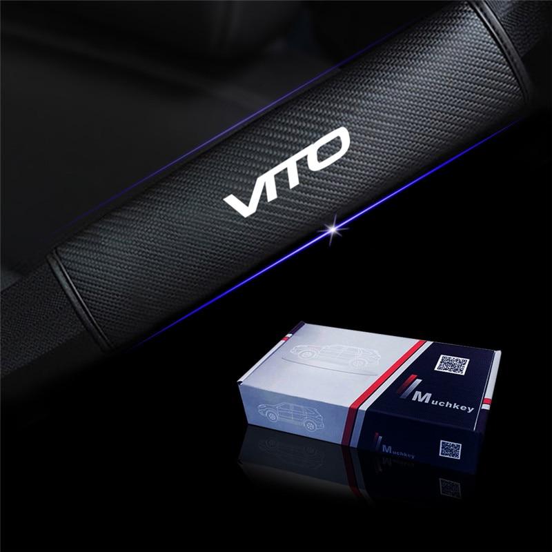 Cubierta reflectante de cinturón de seguridad para cinturón de seguridad de coche hombreras para Mercedes Benz VITO Car Styling Auto Parts 2 uds