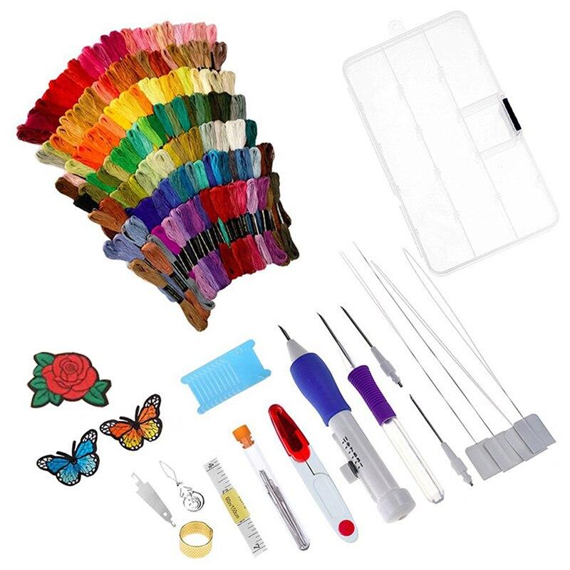 100 colores hilo de bordado de mano bordado aro Cruz puntada bordado paquete traje Cruz puntada hilo dental