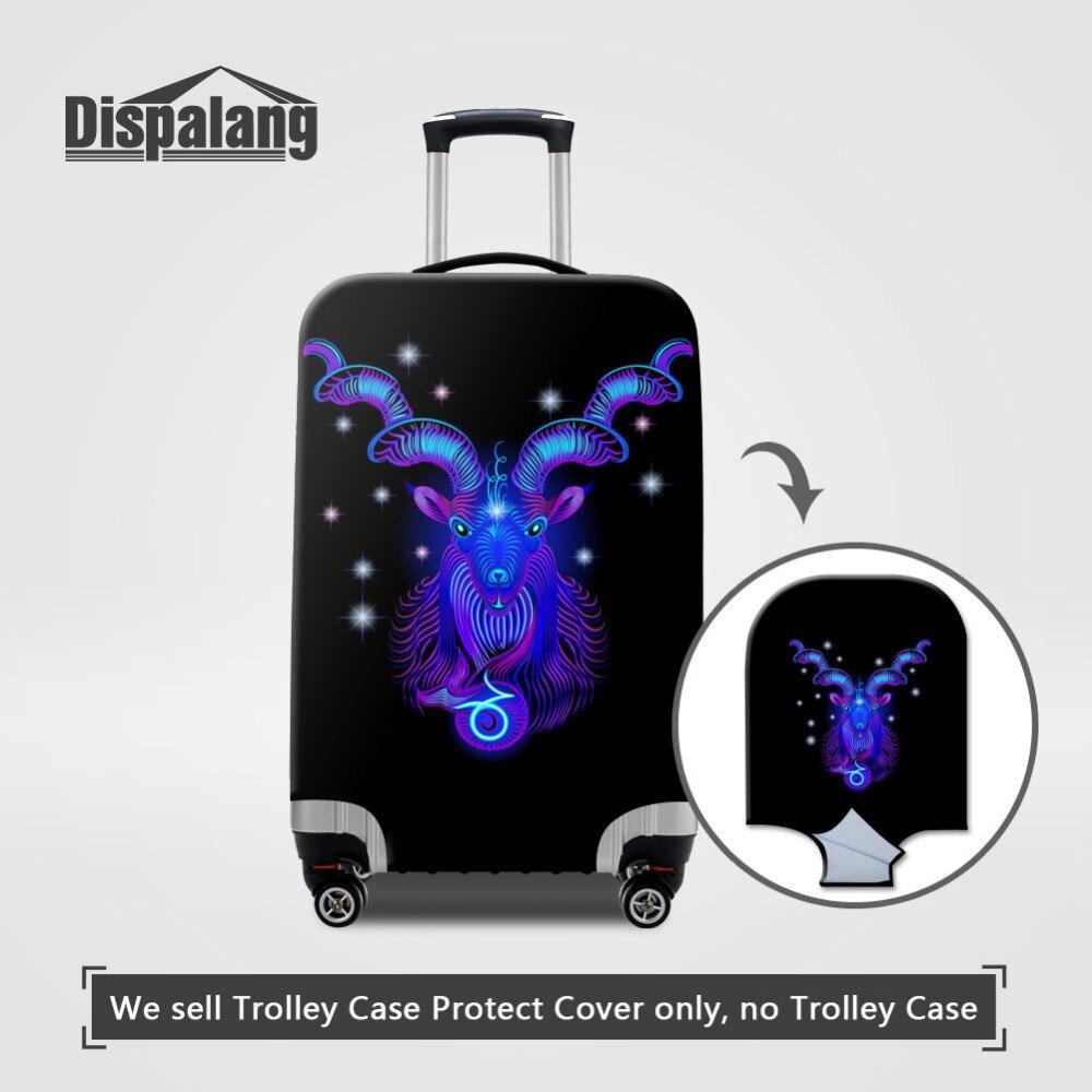 Dispalang созвездия эластичный Пыленепроницаемый Чехол для чемодана Козерога дорожный Багаж Защитные чехлы для 18-30 дюймов Чехол