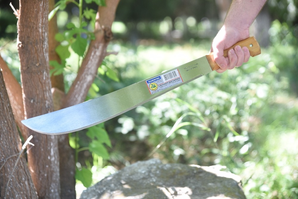 Hacha machete herramienta con asa de madera para jardín cuchillo de cocina para exteriores Cuchillo Universal para cortar poda 873-218