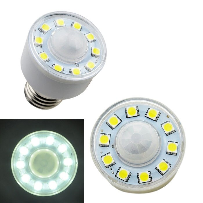PIR Auto Infrared Motion Sensor 5050 SMD 10 LED Night Lamp Light Bulb 3W For Home living room bathroom AC 180V- 220V