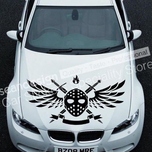 Cool! Jason YYY01 Auto Car Decal Sticker PVC(black,white,red,Gray colour)