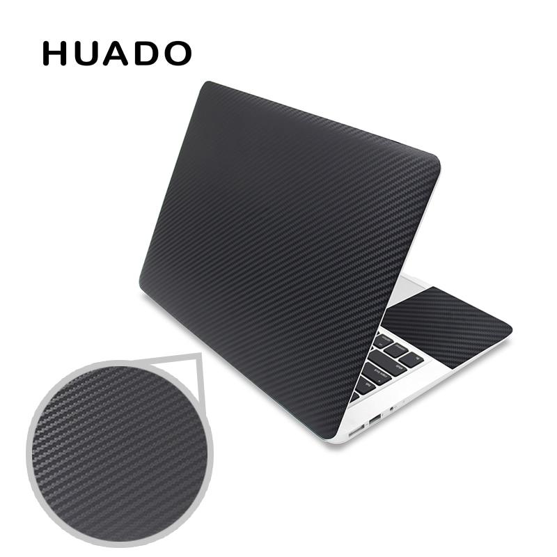 Black 3D carbon fibre laptop skin sticker 15.6 vinyl stickers for notebook 17