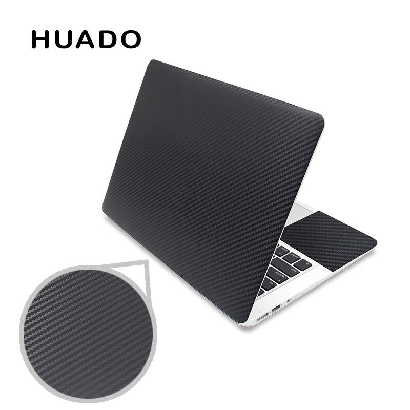 """Черная 3D наклейка из углеродного волокна для ноутбука 15,6 виниловые наклейки для ноутбука 17 """"15"""" 14 """"13"""" наклейки для mac air 13,3/mi pro/asus/hp"""