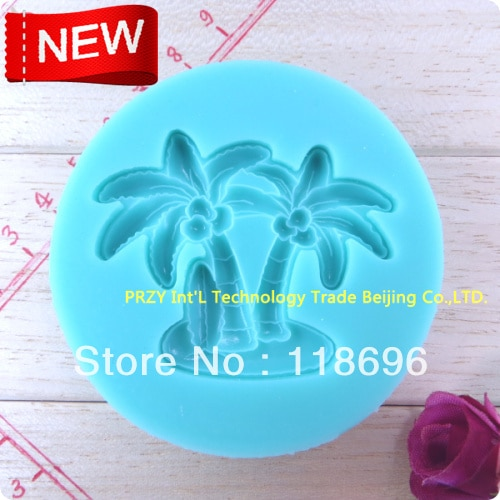 Coconut Tree Silicone Mold,Sugar Mold, Chocolate Mold, Fondant Cake Decoration Sugar Craft Tools baking tools  NO.SI209