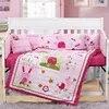Parure de lit bébé brodée 7 pièces | Lit bébé pour fille et garçon pare-choc 4 pare-chocs couette drap oreiller
