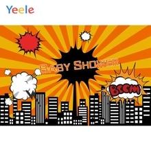 Yeele City Building bébé douche anniversaire nouveau-né photographie dessin animé arrière-plan photographie fête toile de fond Photo Studio