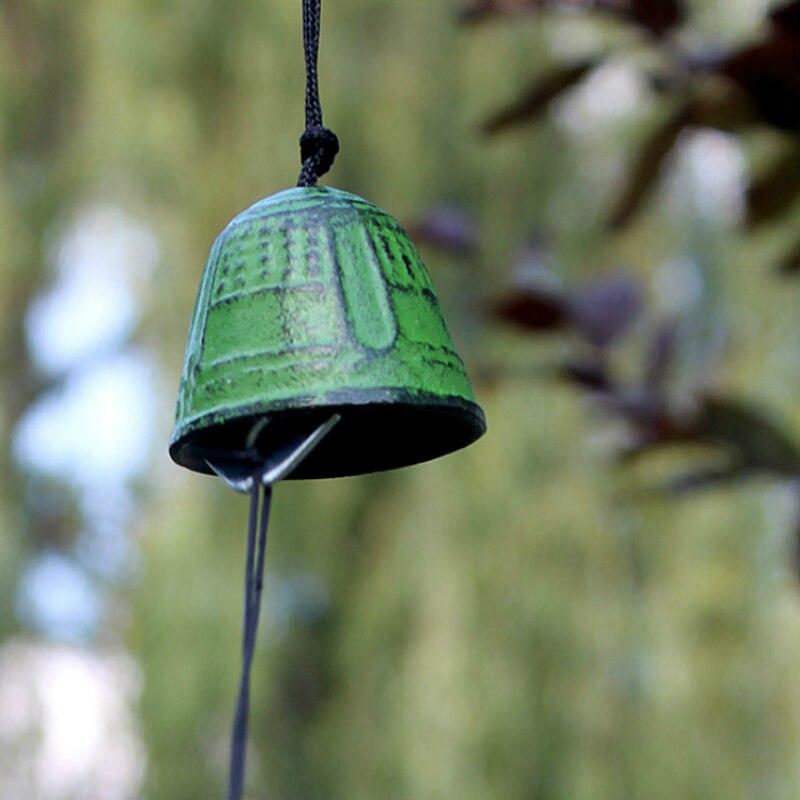 Japanischen Nambu Gusseisen Außen Wind Chime Furin Cloche eine Vent Metall Tempel Beten Glück Glocke