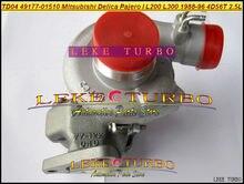 TD04 refroidissement à lhuile pour Mitsubishi SHOGUN Delica Pajero L200 L300 49177-96 4D56 4D56T 2,5l 01510-49177 01510