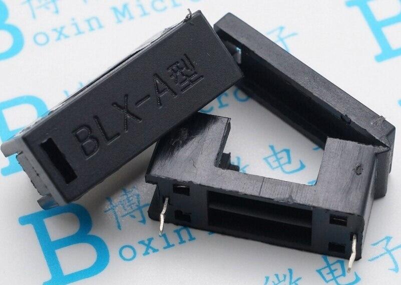 100 pcs 5*20mm fusível de vidro titular BLX-A tipo com tampa seguro de blocos de fusíveis 5X20mm header Frete grátis