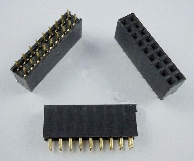 50 piezas 2x9 Pin 2,54mm doble fila hembra Pin encabezado 18 P PCB conector