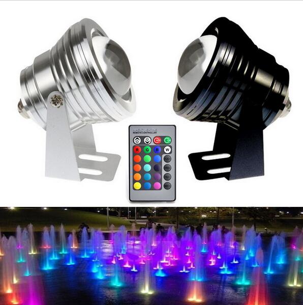 led Underwater Light RGB WW CW 10W 12V Led Underwater Light 16 Colors Waterproof IP67 Fountain Pool Lamp Lighting