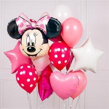 12pcs Mickey Minnie Mouse Elio Foil Palloncini Festa di Compleanno per bambini di Decorazione Baby Shower Compleanno Palloncino In Lattice giocattolo stella globos