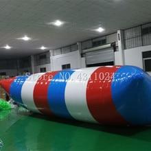 Livraison gratuite 8*3 m gonflable eau Blob gonflable eau jouets Air eau Blob saut sac gonflable éjection deau Trampoline