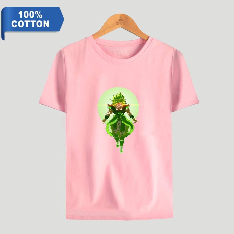 100% algodón 2019 Akira Toriyama Dragon Ball Super Broly imprimir mujeres/hombres ropa de manga corta Camiseta gran oferta Casual camiseta