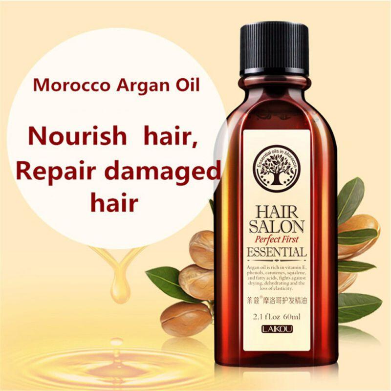 60 ml Marokko Arganöl Haarpflege Ätherisches Öl Nähren Kopfhaut Reparatur Trockenen Schaden Haar Behandlung Glycerin Nut Öl Friseur