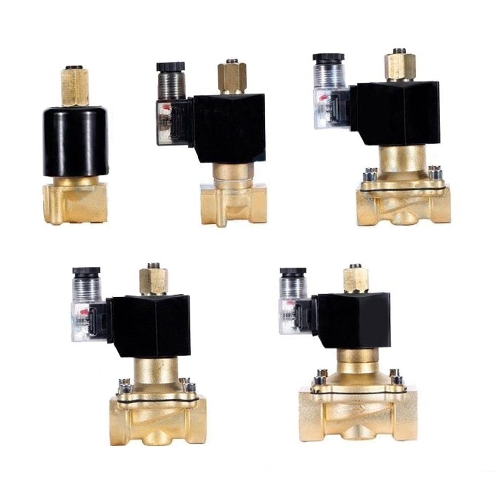 """1/4 """"3/8"""" 1/2 """"3/4"""" 1 """"normalmente aberto n/o bronze válvula solenóide elétrica 12 v 24 v 220 v 110 v válvula pneumática para óleo de água ar combustível"""