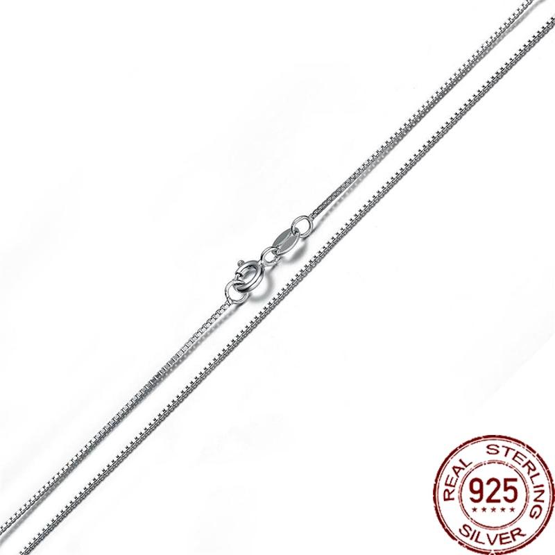 Aceworks 16 /18 Pure S925 plata esterlina 40/45cm longitud caja cadena mujeres/hombres DIY collar enlace moda europea NC1815