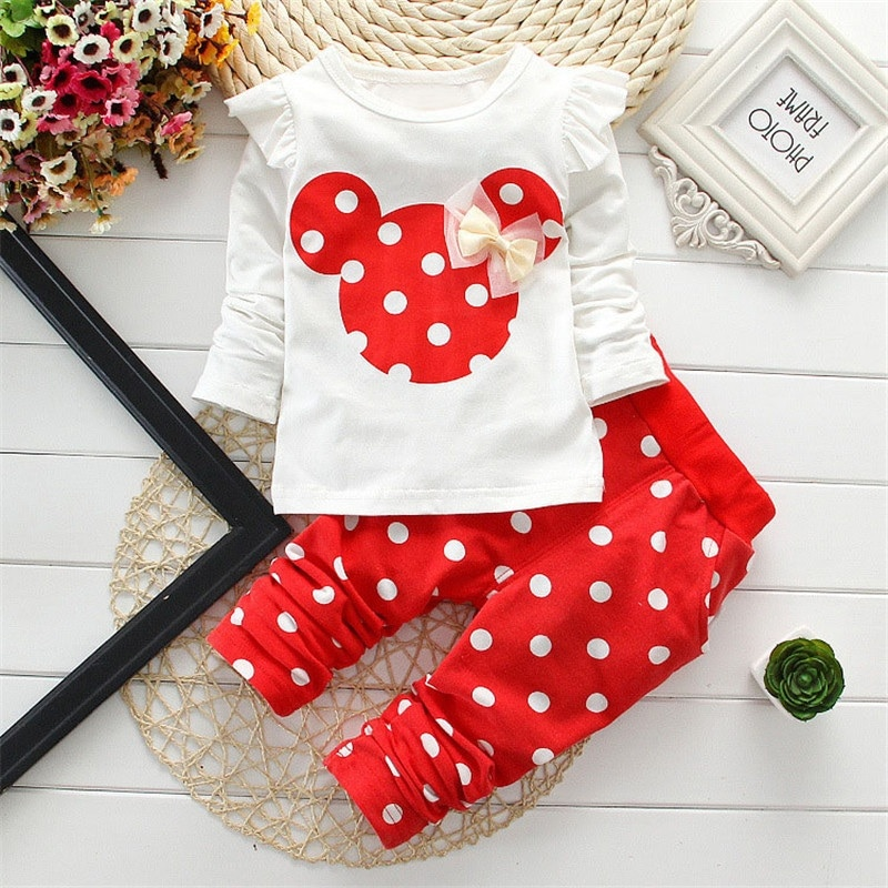 2020 Baby Set clothing Baby Girls Clothing Sets Cotton Cartoon Mouse Long Sleeve Bebes Suit Newborn Kids Baby Girl Clothes children s suit baby boy clothes set cotton long sleeve sets for newborn baby boys outfits baby girl clothing kids suits pajamas