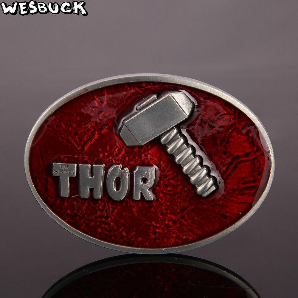 Westbuck marca super-herói martelo fivela de cinto masculino com oval metal cowboy cabeça cinto acessórios 5 pcs moq