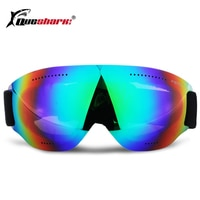 Anit-fog Ski Glasses Snowboard Goggles Motocross Skiing Eyewear Snowmobile Ice-Skating Goggles for Kids Women Men
