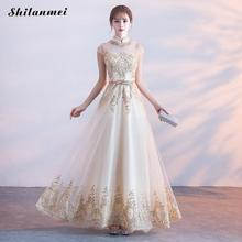 2019 New Fashion Elegant Evening Party Dress For Women Slim A Line Long Summer Xs Dresses Female Diamond Champagne Belt Dress