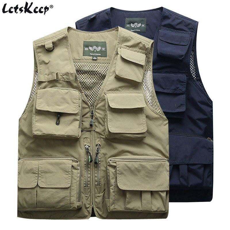 2 unids/lote chaleco táctico Militar de verano para hombre, chaqueta para hombre, prendas de vestir, chaqueta con bolsillos múltiples, chaqueta sin mangas de carga S-4XL, M7898