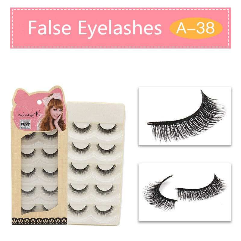 Fashion 5 pairs Handmade lashes False Eyelashes Cross Messy Dense Natural Eye Lashes Stage Makeup Fake Eyelashes Extension Tool недорого