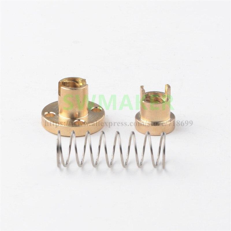 TR8x2/TR8x4/TR8x8/TR8x1/TR8x10/TR8x12/TR8x14 tornillo de plomo tuerca antirretroceso TR8 tuerca de separación