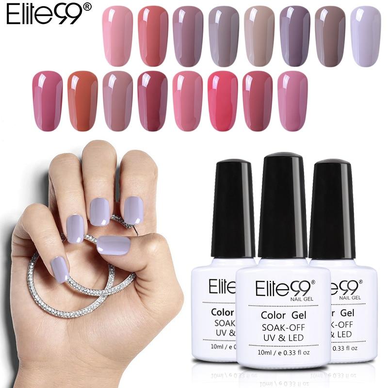 Elite99 10ml cor nude gel verniz embeber fora doces cor esmalte gel polonês unha arte design manicure uv gel unha polonês laca