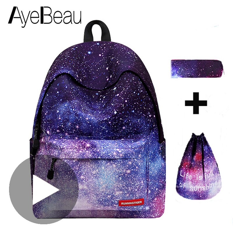 Mochila escolar, mochila, portafolio para escuela, mochila femenina, espacio, mujer, mujer, para niños, niñas, adolescentes, Sac a dos