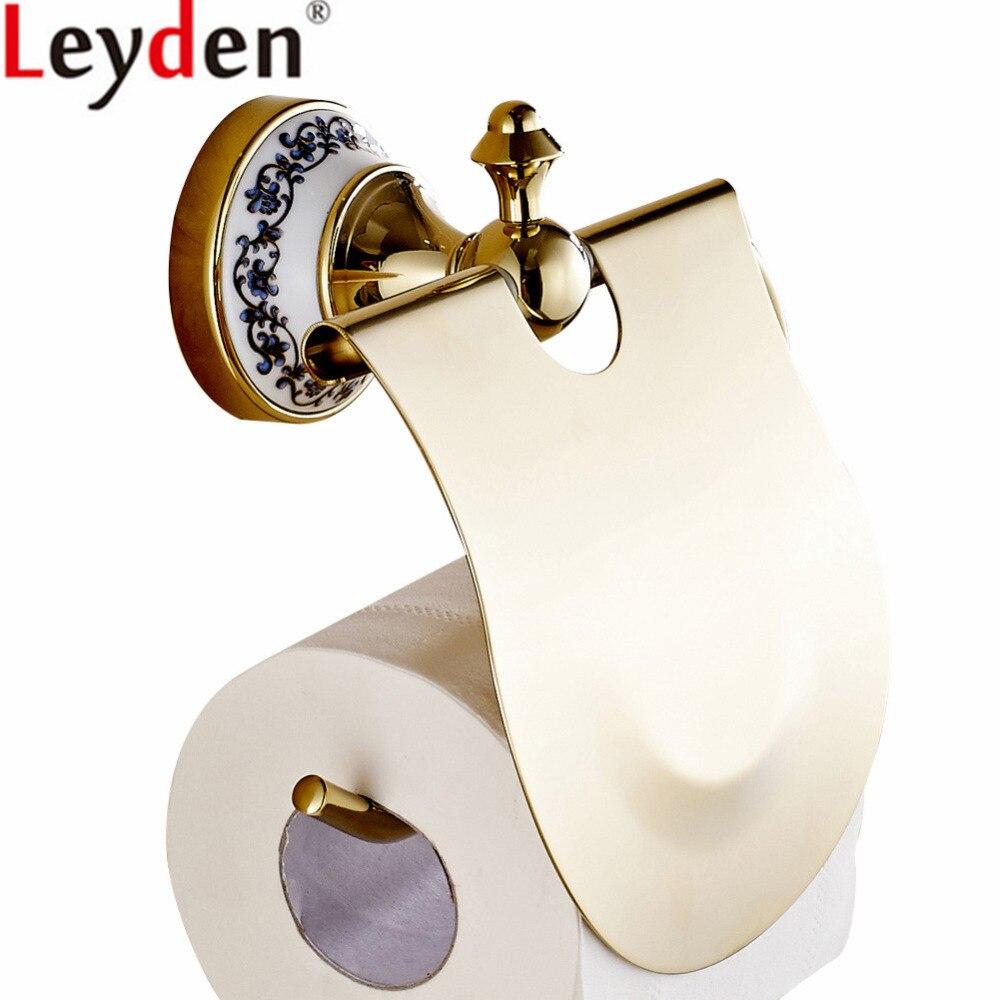 ليدن الحائط الذهب النحاس مرحاض المرحاض ورقة حامل الأنسجة حامل لفة ورقة حامل الحمام المرحاض اكسسوارات