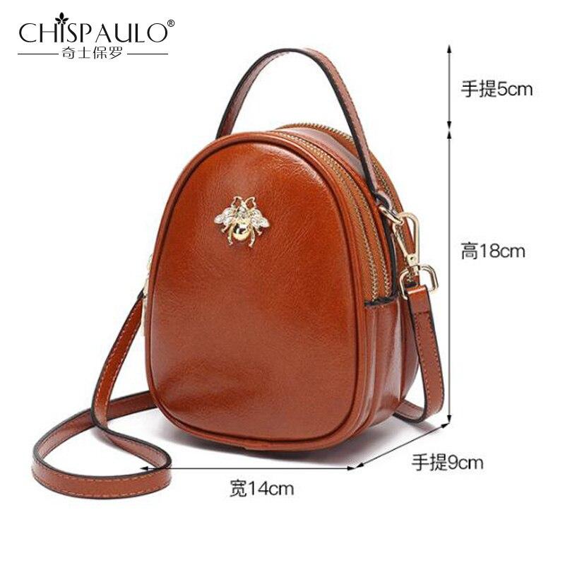 Fashion PU Leather Small Women Handbag Famous Brand Oil Wax Leather Women Bag Women Shoulder Bag bee Pattern Women Messenger Bag