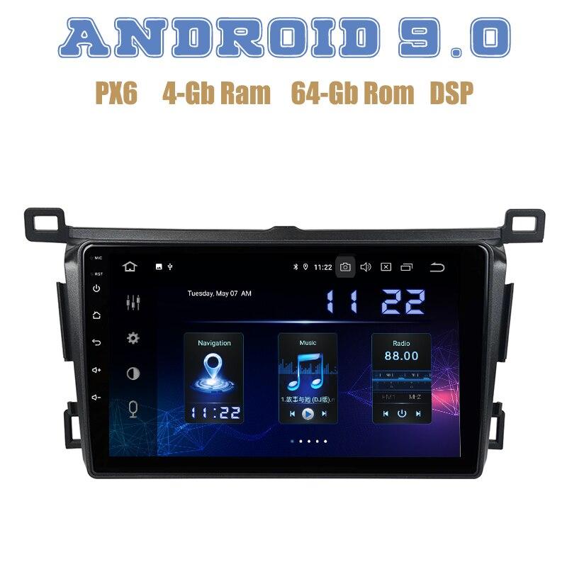 "IPS de 9 ""para Toyota RAV4 2013 2014 2015 2016 2017 PX6 Android 9,0 GPS para coche, reproductor de Radio con DSP 4 + 64GB wifi 4g usb estéreo para coche"