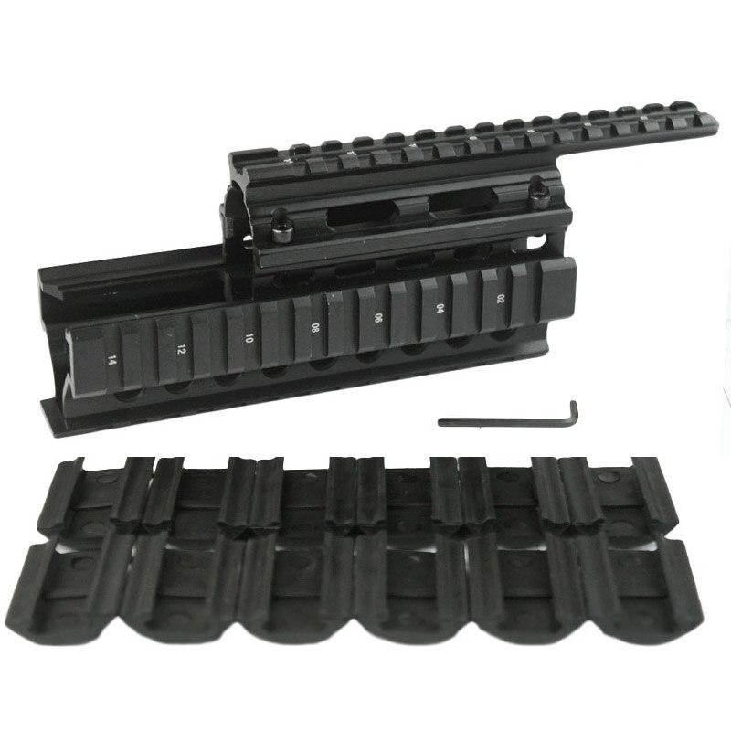 Hohe Qualität Taktik picatinny schiene Handguard Viererschienensystem Montieren fit AK47 & AK74 Mit 12 stücke Rail Deckt
