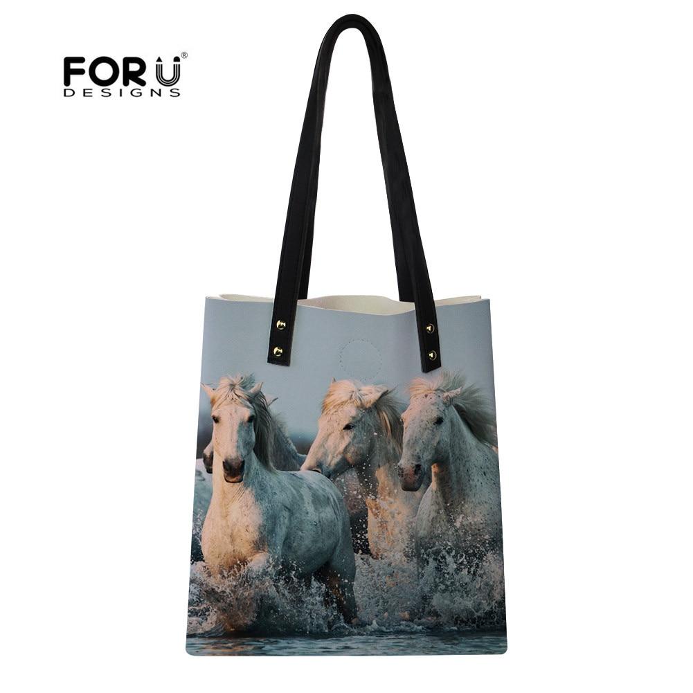 FORUDESIGNS Horse Women Top-Handle Bags Stylish High Quality Shoulder Messenger Bag Girls Female Bra