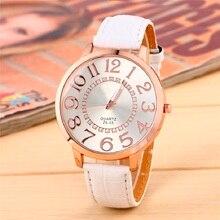 Numeri Quarzo Faccione Quadrante Donne Orologio Doro Orologio Da Polso della ragazza fashion PU Leather reloj regalo mamma