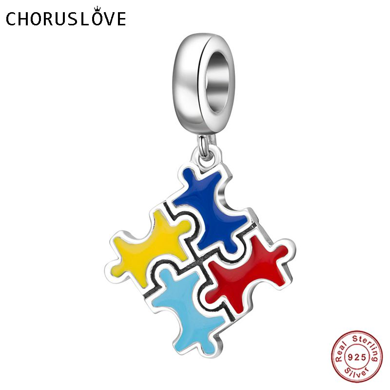 Colgante de plata esterlina 925 Choruslove con esmalte compatible con pulseras Pandora para regalo de cumpleaños SS3687