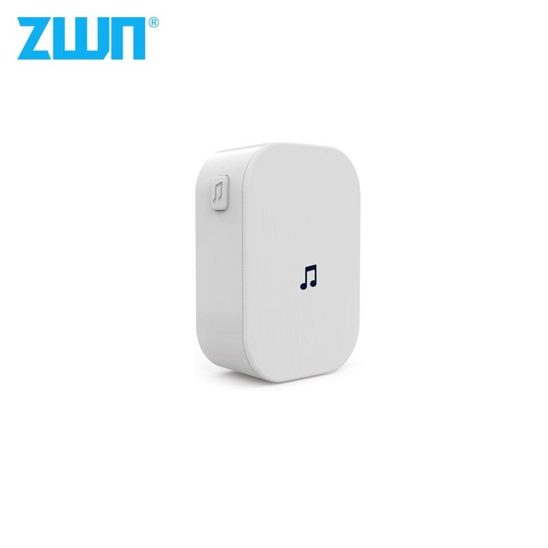 ZWN V7 B10 AC 90V-250V 52 Chimes 110dB Wireless Doorbell Receiver Ding Dong Wifi Doorbell Camera Low Power Consumption Home Door
