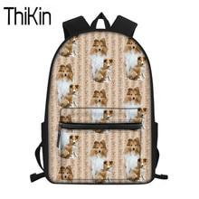 THIKIN Cute Girls Sheltie Dog Printing School Bags for Kids Primary Schoolbag Women Backpack Large Laptop Bags Children Satchel