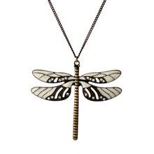 Joyería de moda Outlanders insectos libélula grande Vintage collares con colgantes largos para mujeres colgante de cristal collares de regalo-30