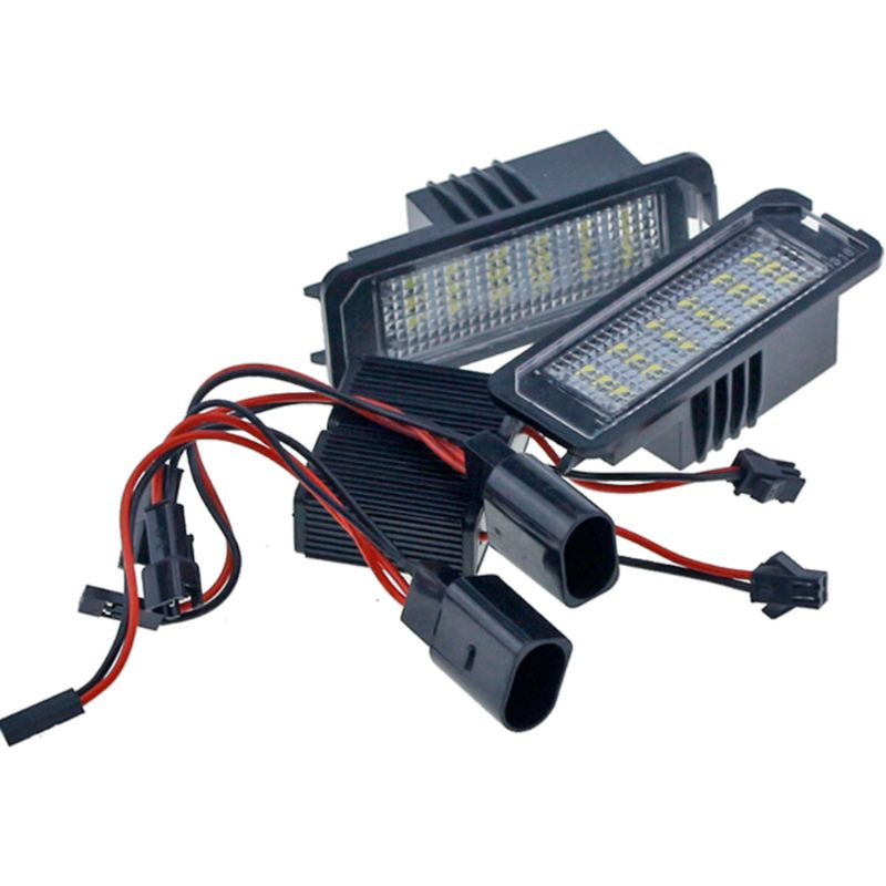 2x18SMD Error free LED License Number Plate Light lamps V~W Golf MK4 MK5 MK6 Passat Po.lo CC Eos SciroccoLicense Number Plate