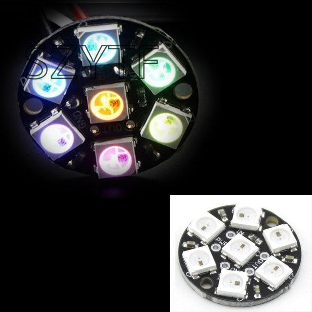 7 Bits 7 X WS2812 5050 RGB LED anillo de luz de la lámpara con controladores integrados