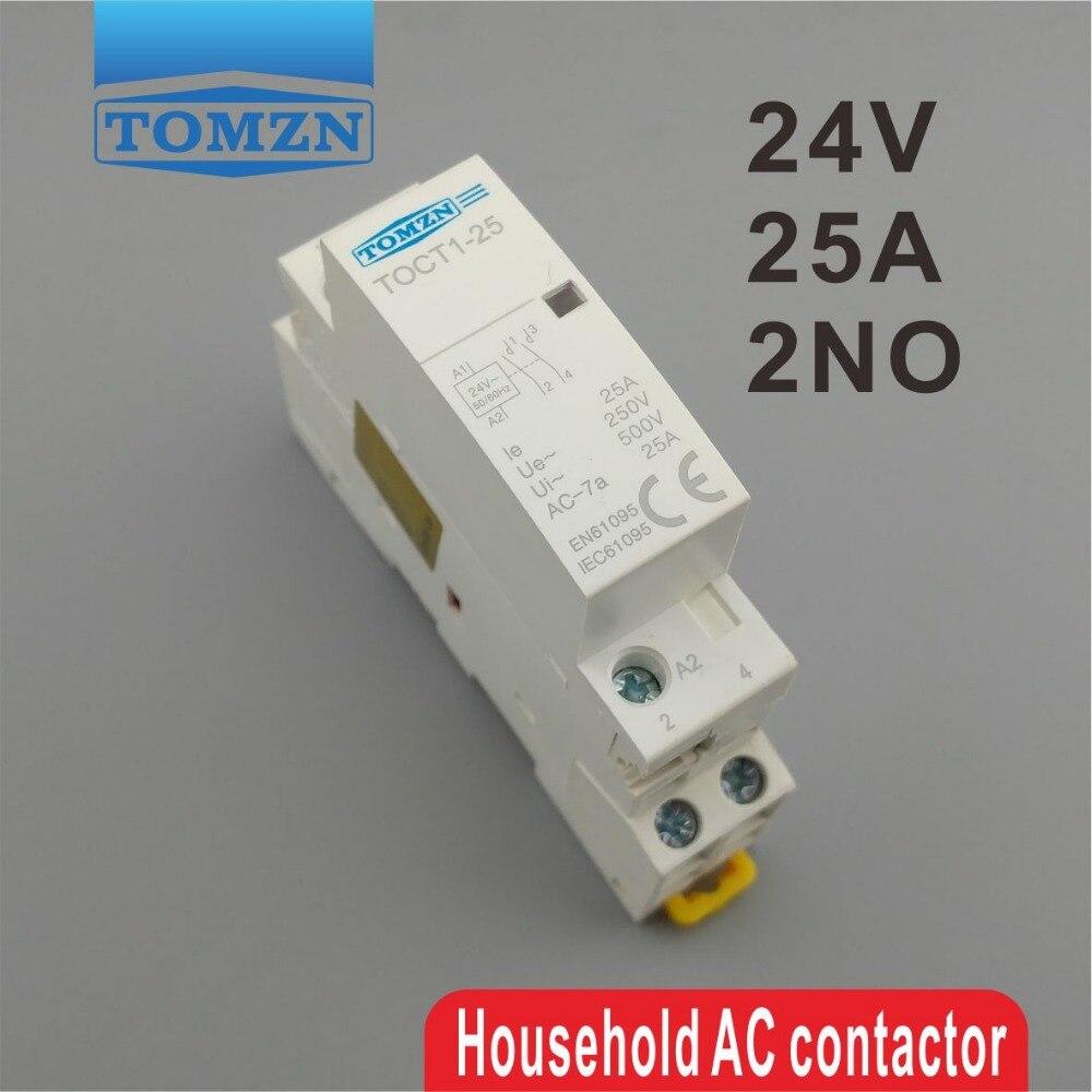 Contactor Modular CT1 2P 25A 24V 50/60HZ para el hogar, contactor Modular...
