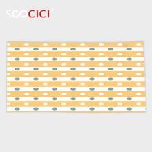 Serviette de bain Ultra douce en microfibre   Serviette petite et personnalisée, rayures horizontales, audacieuses, jaune et blanc, à pois, carreaux à lancienne, en amande